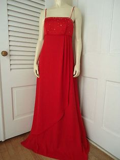ALFRED ANGELO Gown 5/6 NEW w/o Tag Red Prom Wedding Bridesmaid Dress