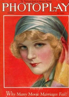 sydneyflapper:  Esther Ralston cover, Photoplay magazine October 1925 by Charles Gates Sheldon