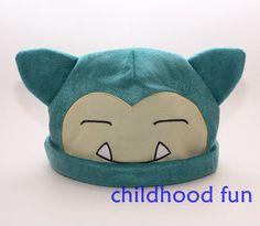 Pokemon plush hats cute Snorlax Warm Hat Soft Cartoon Beanie Brand New #POKEMON #Beanie