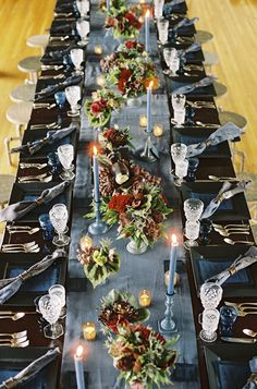 Gorgeous tablescape for a wedding/rehearsal dinner via Wine Wedding Wednesday – Dutch Still Life Inspired Dinner – ONEHOPE Weddings
