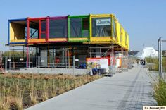 Shipping Container Homes: Renault, - l'ile Seguin, Paris, - 15 Shipping Container Pavilion, http://homeinabox.blogspot.com.au/2012/12/renault-lile-seguin-paris-15-shipping.html