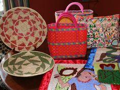 Baskets, bowls, voodoo flags, pillows... www.galeriebonheur.com