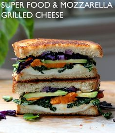 Super Food & Fresh Mozzarella Grilled Cheese