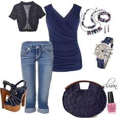 Draped Navy, created by slmon on Polyvore