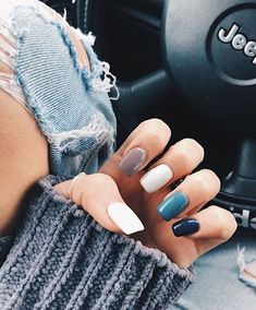 37 fun, stylish, and trendy summer nail art designs you should try . - 37 fun, stylish, and trendy summer nail art designs you should try … – – ou - Summer Acrylic Nails, Best Acrylic Nails, Elegant Nails, Stylish Nails, Hair And Nails, My Nails, Fall Nails, Spring Nails, Cute Nails For Fall