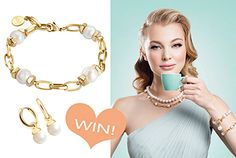 BG83-Kagi-Small Gold Necklace, Girly, Bracelets, Fun, Jewelry, Fashion, Women's, Moda, Girly Girl
