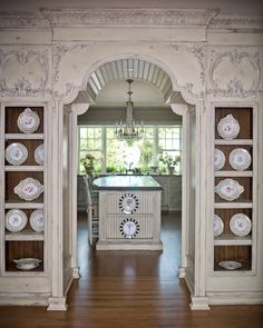 Hydrangea Hill Cottage ~ gorgeous moulding and details