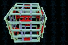 Foldable Cube - STEP / IGES,SOLIDWORKS,Parasolid,AutoCAD - 3D CAD model - GrabCAD