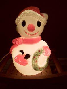 Vintage Snowman Blow Mold Blowmold
