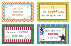 Extra Notes for Kids- a free printable from Darling Doodles