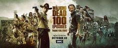 #TWD completa 100 episódios e ganha este incrível banner de comemoração. Muito show o que acharam?