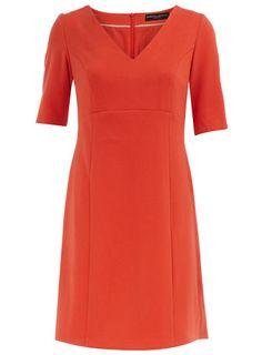 Orange crepe shift dress - I used to have a dress like this years ago.