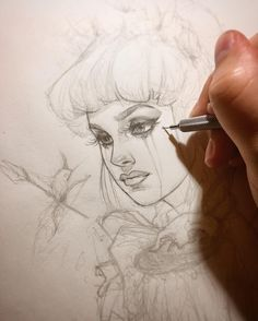Concept sketching for a new painting. #WIP #Sketch #GlennArthurArt by glenn_arthur_art