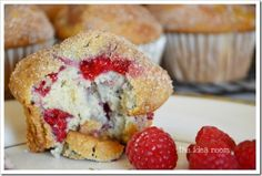 raspberry white chocolate muffins 5wm