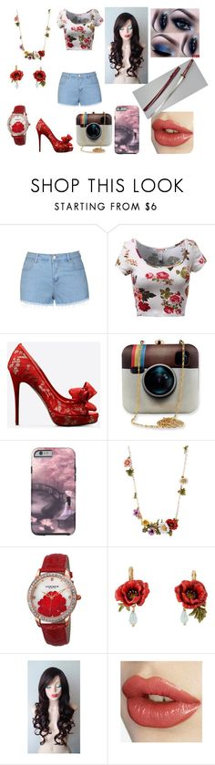 """Sofia"" by eliana-zennaro on Polyvore featuring moda, Ally Fashion, Valentino, Akribos XXIV, women's clothing, women, female, woman, misses e juniors"