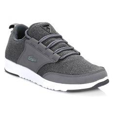 5ab389fada253 Lacoste Womens Dark Grey L.IGHT JRS Trainers Lacoste Shoes Women, Fashion  Killa,