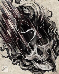 Skull Stencil, Skull Art, Skull Tattoos, Black Tattoos, Tattoo Sketches, Tattoo Drawings, Poland Tattoo, Totenkopf Tattoos, Ink Art