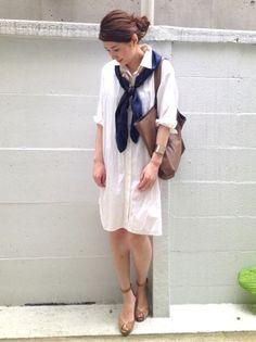 「ワンピにスカーフ&お客様レポート」の画像|プチプラコーデ術 |Ameba (アメーバ)
