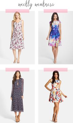 Weekly Weakness – Nordstrom Fall Floral Dresses | Poor Little It Girl