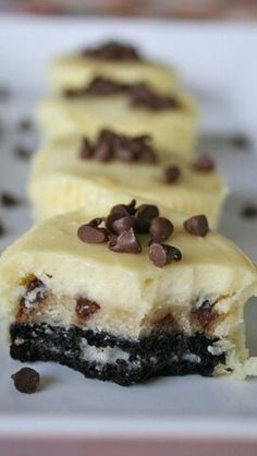 Chocolate Chip Cookie Dough Oreo Cheesecakes