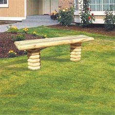 Landscape Timber Bench Woodworking Plan This bench would look great along wooded trail or even in your backyard. The Landscape Timber Bench has a terrific rustic look that would look great at your cab Diy Pergola, Metal Pergola, Pergola Plans, Pergola Ideas, Pergola Shade, Pergola Kits, Landscape Timber Crafts, Landscape Timbers, Woodworking Bench Plans