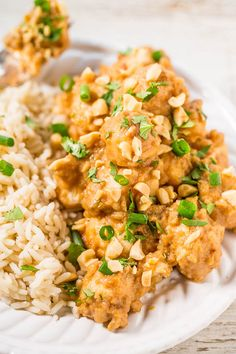 Slow Cooker Thai Peanut Chicken - The easiest peanut chicken ever and your slow…