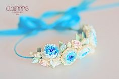 Headband with floral composition by TreasureAM on Etsy https://www.etsy.com/listing/190274616/headband-with-floral-composition