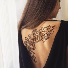 Beautiful henna back piece by Anna