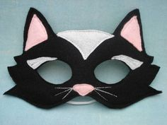 Black Cat Mask. $14.50, via Etsy.