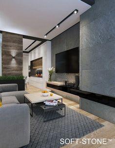 Contemporary Living Room Design Ideas To Get A Warm Room House Design, Home Living Room, Home, Modern House, Contemporary Decor, Contemporary House, Modern Interior Design, Interior Design, Living Room Designs
