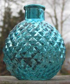 "Aqua Tiffany Blue Turquoise Mercury Glass Mini Bud Vases Round Speckled Vintage Style Winter Wonderland Wedding Christmas 4.25"" Small | Recycled Bride"