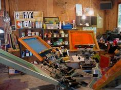 My screen print studio | Flickr - Photo Sharing!