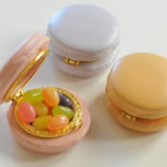 Tiny macaron boxes for jewels or pills or candy!