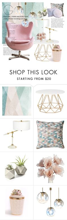 """""""Challenge: Pastel Time"""" by kikiseppr ❤ liked on Polyvore featuring interior, interiors, interior design, home, home decor, interior decorating, Sandberg Furniture, Gallery and Jay Strongwater"""