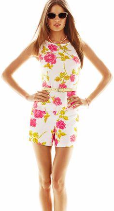 73651411 Ann Taylor - AMA1015M - Garden Floral Print Peplum Shell Hot Summer Looks,  Retro Shorts