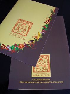 Menu Design for Restaurang & Pub Indian Haweli by judit design , via Behance