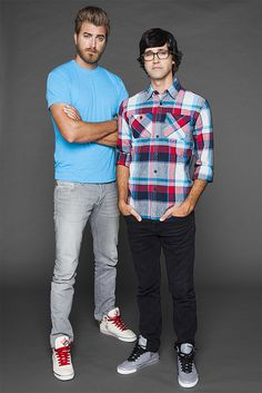 Rhett and Link Good Mythical Morning! Watch it and laugh until your cheeks hurt! Markiplier, Pewdiepie, Caspar Lee, Joe Sugg, Julian Smith, Youtube Red, Good Mythical Morning, Best Youtubers, Dan And Phil