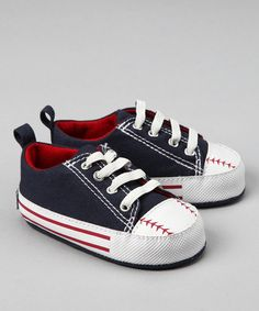Navy Baseball Sneaker from Vitamins Baby on #zulily