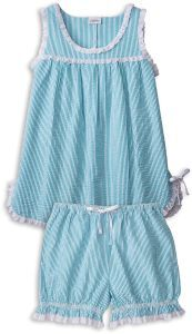 Shop our baby doll pajamas for stylish comfort. Perfect for summer nights, this lightweight womens seersucker baby doll pjs includes bloomer-style shorts and a sleeveless top. 50s Outfits, Little Girl Outfits, Summer Outfits, Summer Clothes, Baby Doll Pajamas, Baby Dolls, Sleepwear Women, Pajamas Women, Concept Clothing