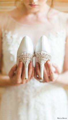 bella belle bridal shoes 2016 elizabeth wedding pumps beaded heels - mules shoes, 30 dollar shoes, shoe stores for women *ad Bling Wedding Shoes, Wedding Pumps, Mod Wedding, Wedding Bells, Belle Bridal, Bridal Heels, Lookbook, Bridal Boutique, Shoe Collection