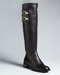 black boots with silver detail