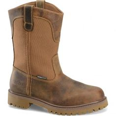 CA5531 Carolina Men's WP Steel Toe Wellington Safety Boots - Brown www.bootbay.com