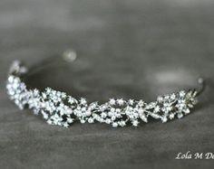 SALE ~ Amber - Bridal headband, wedding accessory, tiara, wedding headpiece, crystal headband, bridal hair piece #prom headband