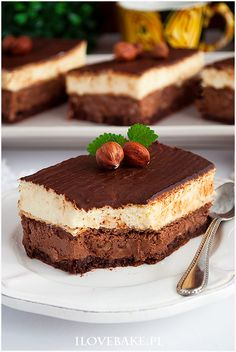 Ciasto łabędzi puch - I Love Bake Delicious Desserts, Dessert Recipes, Tiramisu, Nom Nom, Nutella, Recipies, Cheesecake, Food And Drink, Cooking Recipes