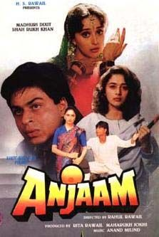 SRK in Anjaam-thought it was a good movie
