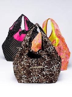 Victorias Secret Reversible Tote Bag In Pink Paisley Print New Best