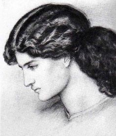 Jane Morris study by Rossetti John William Waterhouse, Victorian Paintings, Victorian Art, William Morris, John Everett Millais, Pre Raphaelite Brotherhood, Edward Burne Jones, Dante Gabriel Rossetti, English Artists
