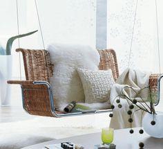 white sheepskin throw on rattan swing White Rug, Ivory White, Throw Rugs, Throw Pillows, Sheepskin Throw, Carpet Stairs, Patterned Carpet, Natural Rug, Living Room Carpet