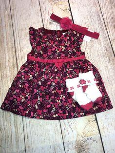 14aec0f8b2703 Gymboree Bright Pink Glitter Leaf Squirrel Dress 0-3 Mth Woodland Tail  Outfit | eBay