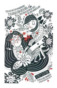 #Print autorizado de @ElyElyIlustra ya disponible en línea  #Ilustración #Diseño #ArtWork #Design #Mexico #MexicanDesign #DF #CDMX #Love #Image #DiseñoMexicano
